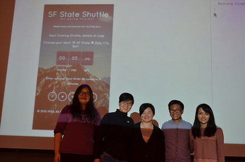 SF State Shuttle team group photo