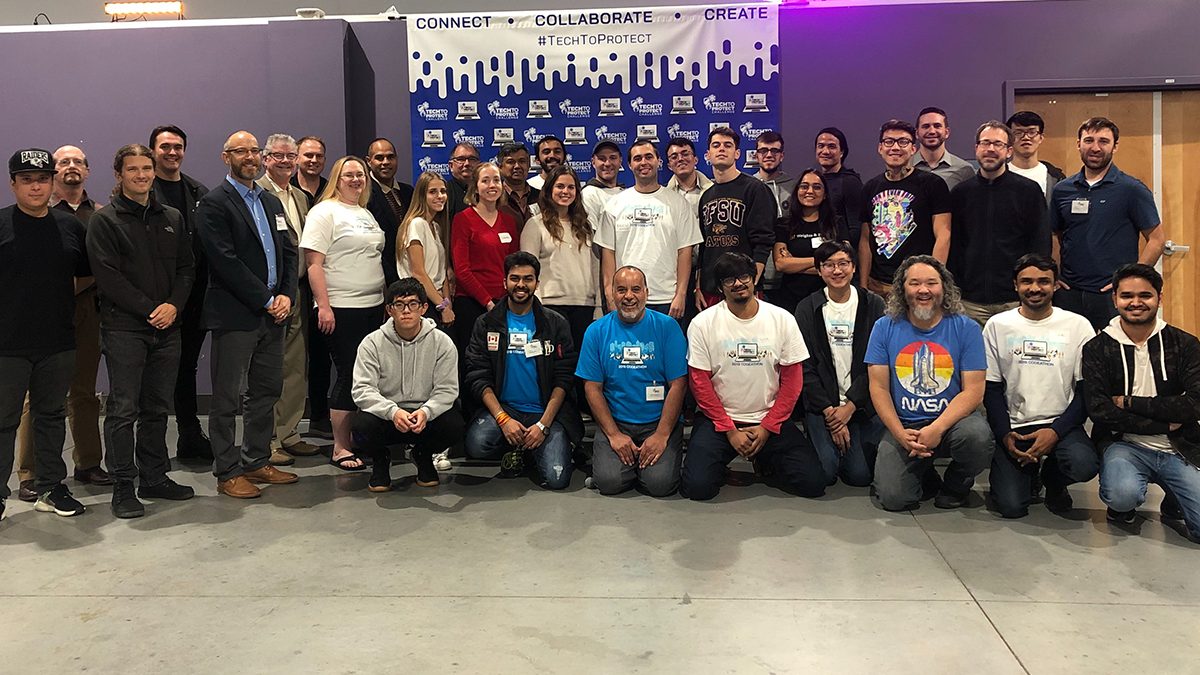 Group photo of Tech to Protect San Francisco participants